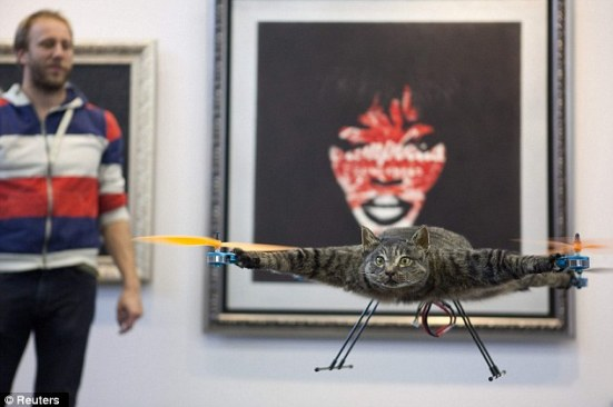 Moving art: The Orvillecopter is on display in a gallery during at the Kunstrai art festival in Amsterdam