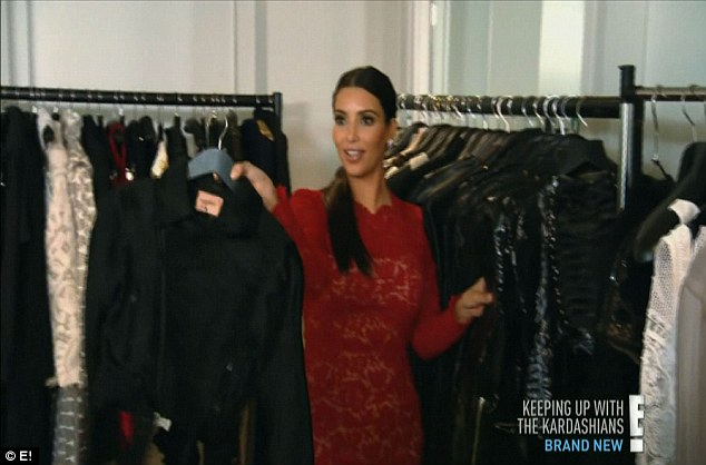 How's this? The designer clothes were picked out by Kanye himself, Kim explains