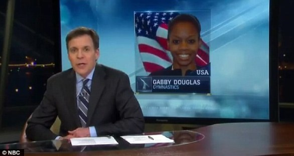 Sports talk: The ad followed Bob Costas analysis of her incredible Olympic win
