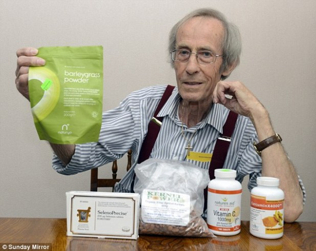 Given the all-clear: Allan Taylor, 78, beat cancer by changing his diet and taking herbal remedies