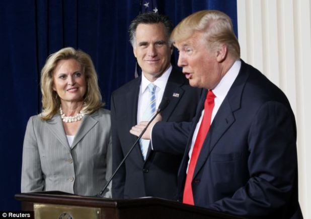 Political power: In February, Trump held a press conference endorsing Mitt Romney's presidential bid