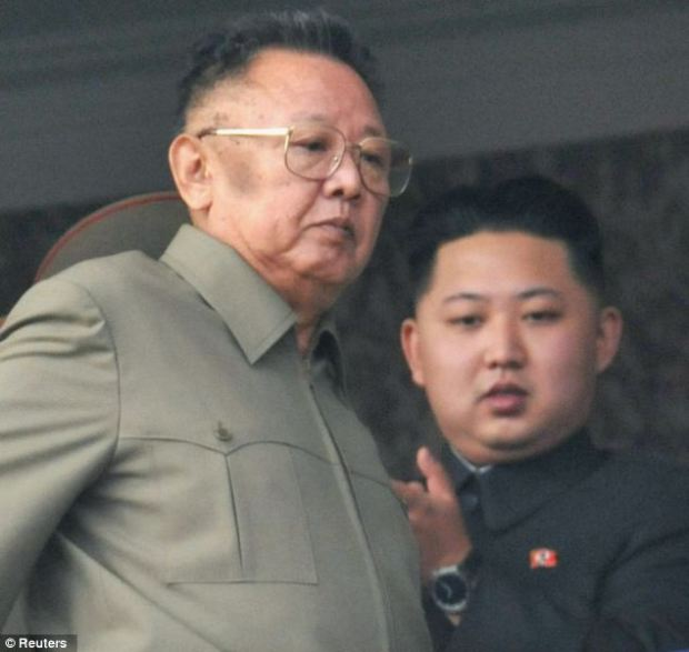 No fun: Throughout the mourning for Kim Jong-il, pictured with his youngest son and new North Korean leader Kim Jong-un, all pleasurable activities, including drinking, were banned
