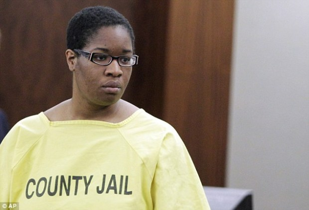 On trial: Former day care operator Jessica Tata in court in Houston, where she faces a month-long trial