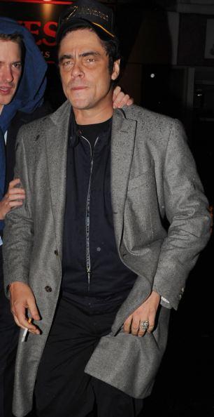 Benicio del Toro looked worse for wear as he left the Raffles nightclub