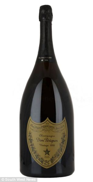 A Dom Perignon 6 litre Methuselah bottle similar to the three which were bought by the city trader