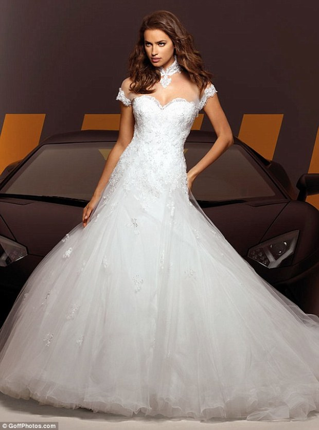 Life imitating art? Irina Shayk models for Alessandro Angelozzi Haute Couture in a range of wedding dresses as Cristiano Ronaldo is said to be getting ready to propose