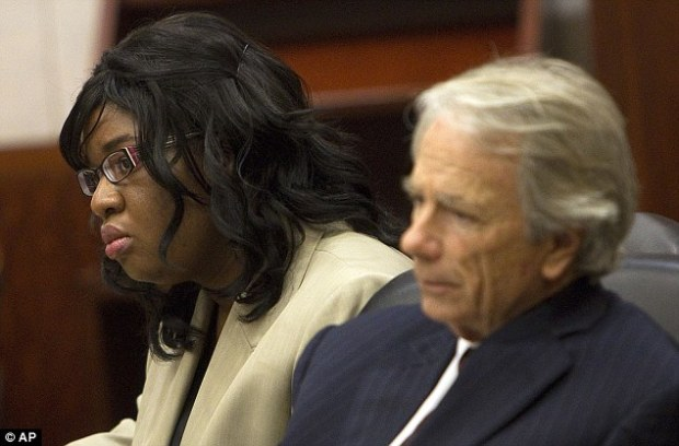 Yesterday: Next to her attorney Mike DeGeurin, home day care operator Jessica Tata listens to the closing arguments in her murder trial for the death of 16-month-old Elias Castillo