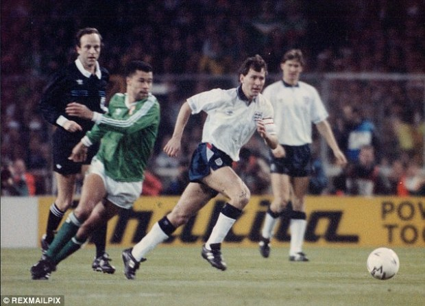 Green dream: Paul McGrath decided to play for Ireland despite being born in England