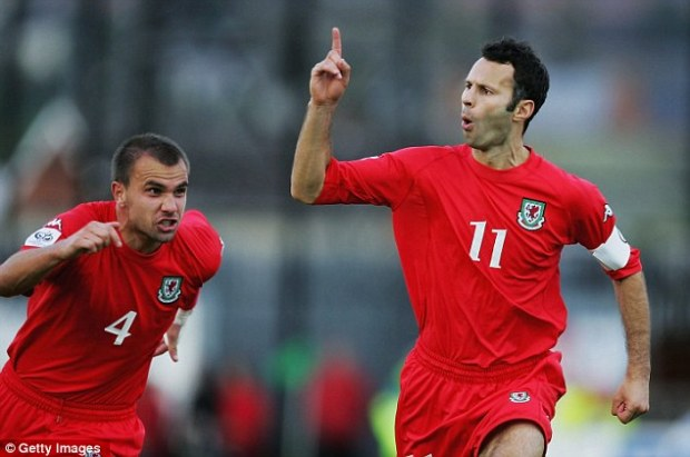 Home country: Instead, Giggs devoted his career to his native Wales, winning 64 caps in a 16-year career