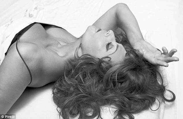 Strike a pose: Sophia's sultry photograph for the 2007 Pirelli calendar