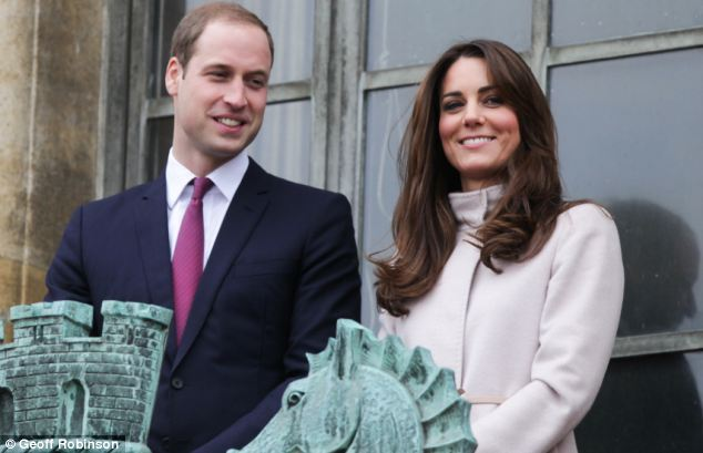 Break with tradition: The Duke and Duchess of Cambridge, pictured in November, are wanting to be 'hands-on' parents