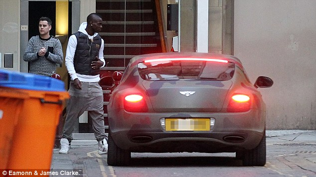 Standing out from the crowd: Balotelli had his Bentley GT covered in a vinyl wrap last year