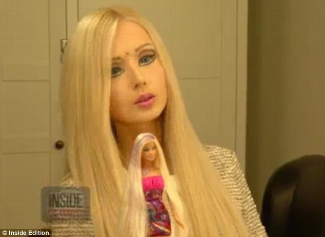 Lifelong obsession: Miss Lukyanova said that she had been fascinated with Barbie since she was five