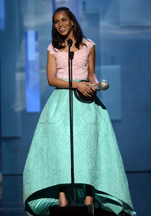 Three times a charm: Washington won three awards including Outstanding Actress in a Drama Series award for Scandal