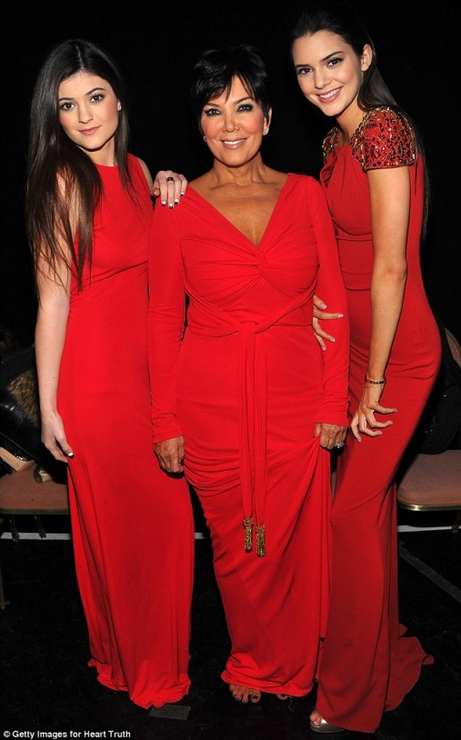 Ladies in red: On Wednesday night, the duo joined their mother to walk in the Red Dress Fashion Show  a charity show held to raise awareness about heart disease