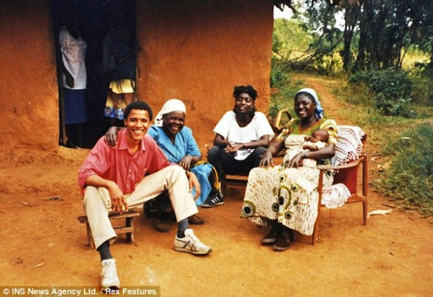 Support: Malik said that Barack, pictured at his family's home in the Kenyan homestead of Alego, could do more to support his Kenyan family