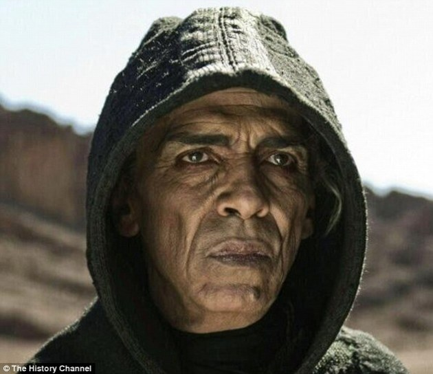 Spooky: Viewers noted the Devil from the History Channel series 'The Bible' Satan looks similar to President Barack Obama