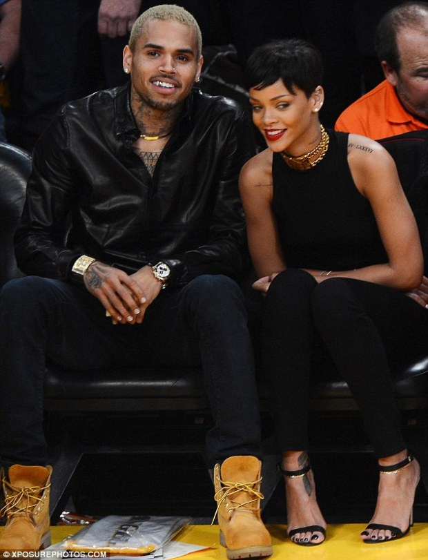 Together again: Chris and Rihanna reconciled last year