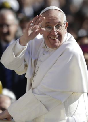 Pope Francis waved to crowds as he arrived at his inauguration Mass in St. Peter's Square at the Vatican on March 19, 2013