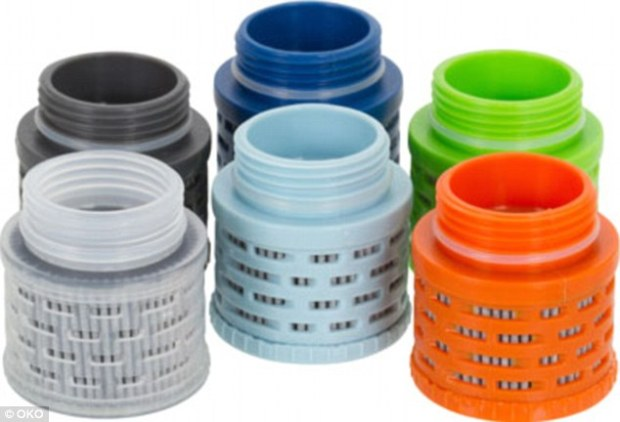 Powerful: The filtration system used for the plastic water containers was inspired by NASA technology