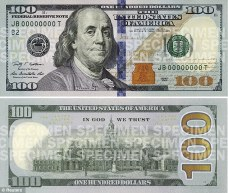 Greenback revamped: A combination photo shows the front and back of the newly designed $100 bill that will be put into circulation October 8