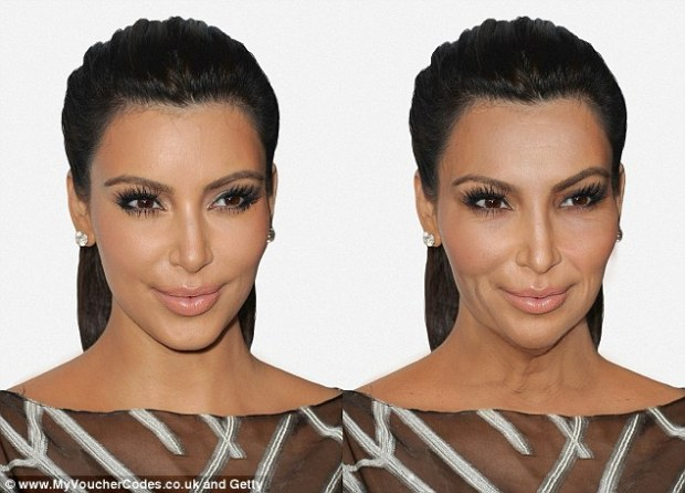 The vampire facelifts have been paying off: Kim Kardashian, who is known for her love of anti-aging treatments, doesn't look too dissimilar from her 32-year-old self