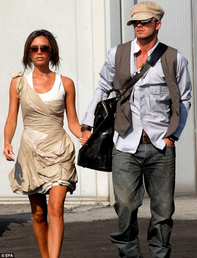 2006: When they touched down in Venice airport to promote their fragrance, the Beckham's looked a touch like they had gleaned inspiration for their outfit from Victorian England