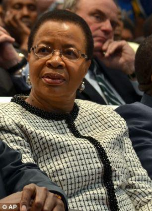 Graca Machel, wife of former president Nelson Mandela, attends a fundraising drive f