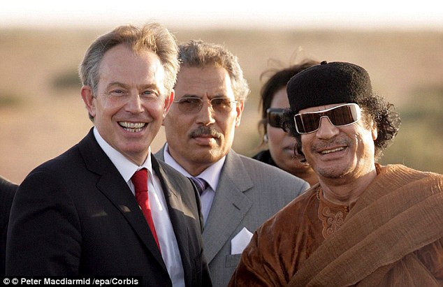 Hi, girls! Former British PM Tony Blair seemed clueless of the sex atrocities committed by Gaddafi when he visited the country in 2007