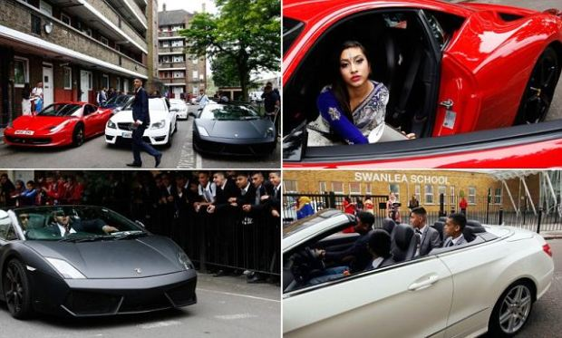 But teenagers in Tower Hamlets have tried to shrug-off this economically-tough climate and spared no expense in hiring many expensive supercars, which often cost more to buy than their own homes.