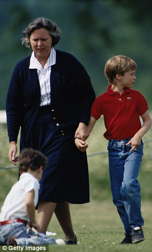 Prince William and Jessie Webb, his nanny in the 1990s. She will now look after Prince George