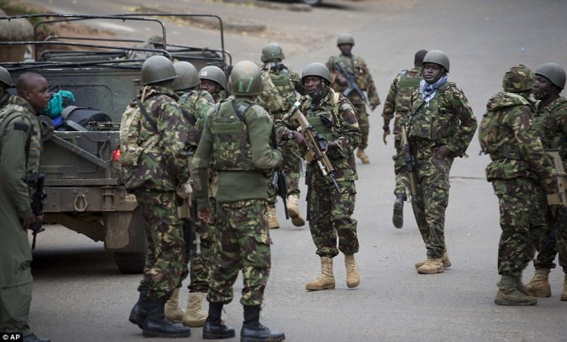 Staging: Kenya Defense Forces soldiers prepare for the final push to rescue the hostages and neutralize the gunmen