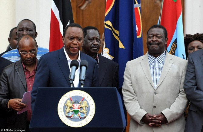 Emotional: Kenya's President Uhuru Kenyatta