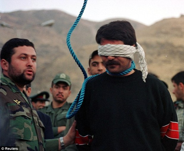 Iran has the highest rate of executions per capita and puts to death more people annually than any other nation except China. This convicted murderer Hashem Anbarniya was hanged in 2002