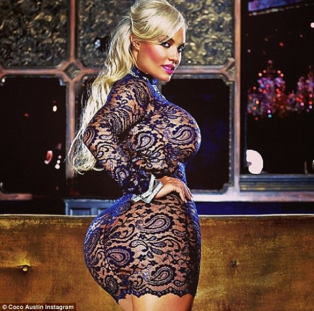 Keeping it fresh: Coco Austin unveiled her new racy image for her Twitter profile that shows her wearing a provocative and see-through lace dress