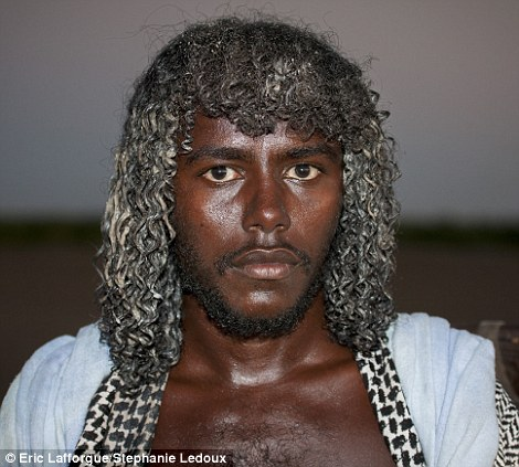 An Afar man with an elaborate dayta hairstyle