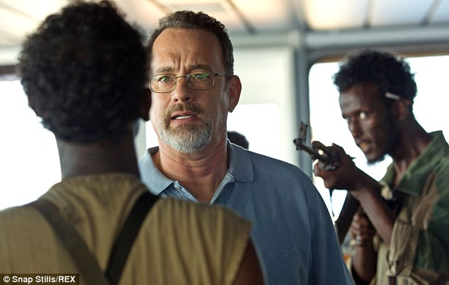 Hit movie: Tom Hanks in his starring role as Captain Philips in the 2013 Paul Greengrass movie which dramatized the hijacking of the Maersk Alabama in 2009 by Somalian pirates