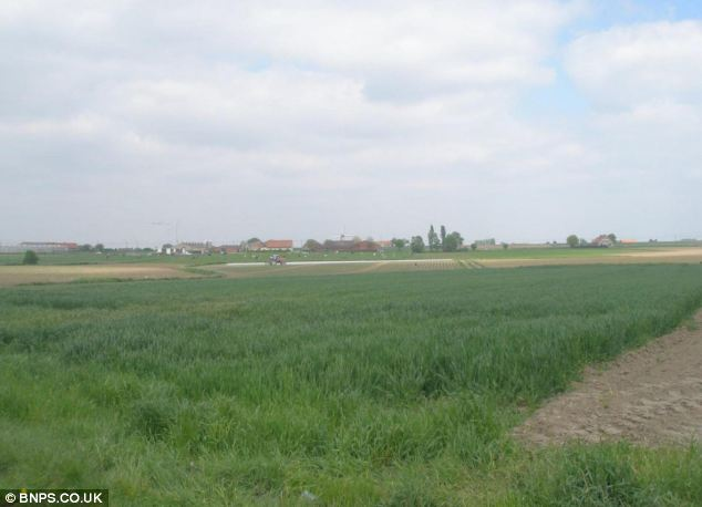 A recent photograph of the area where Sgt Buck received his fatal wound