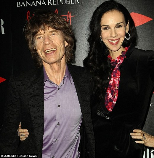 Sole heir: Mick Jagger's fashion designer girlfriend L'Wren Scott (right) has left her entire $9million estate to the Rolling Stones singer