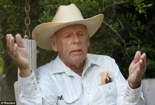 Victor: Rancher Cliven Bundy at his home in Bunkerville, after officials called off the government's roundup of cattle