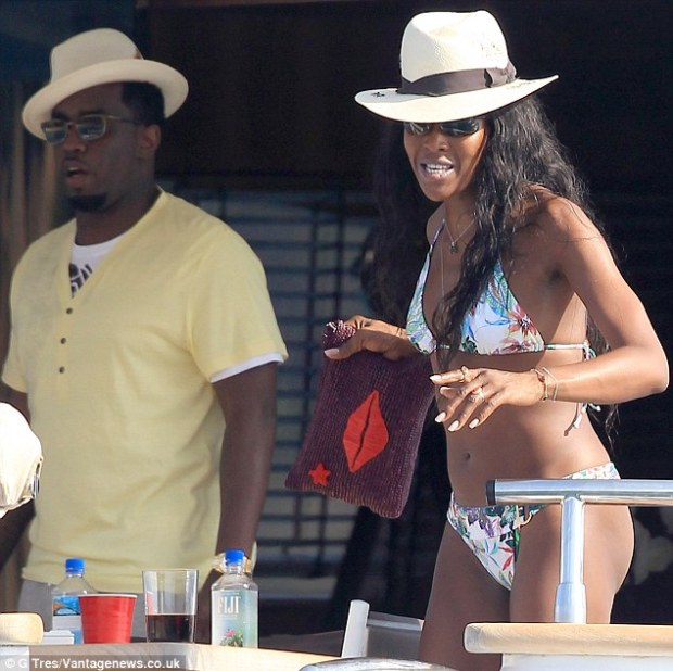 Old flame: Naomi briefly dated Puff Daddy in 2002 and the pair have remained friends over the years
