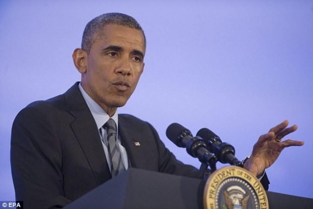 Mr Obama has recently announced sanctions on key sectors of the Russian economy in an attempt to put pressure on Russia