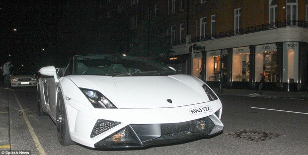 A white Lamborghini Aventador was among the supercars spotted in London last night - and they often attract the attention of tourists and car enthusiasts