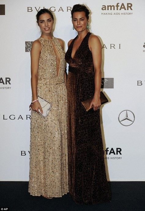 Amber Le Bon, 25 and mother Yasmin Le Bon, 49, could be sisters as they pose for photos on the red carpet at the amfAR gala on Saturday evening