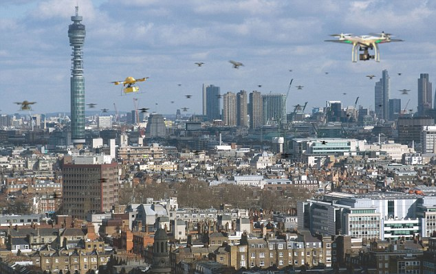 Drones over London