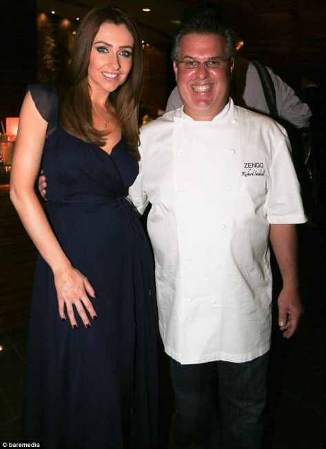 Earlier this week the star had posed with chef Richard Sandavol at the Zengo restaurant opening at the resort's Le Royal Meriden Hotel