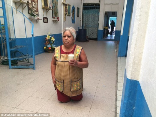 Spreading: It is now not just hardened criminals who worship Santa Muerte. In Mexico, where jaw-dropping murder rates have left ordinary people in fear, many turn to Our Lady of Death to watch over them