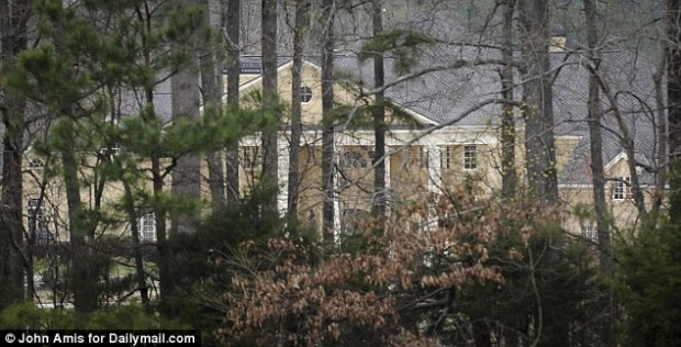 Secluded: This is the vast home set in 53 acres which Rev Creflo Dollar calls home. He and his wife also enjoy a property in New Jersey and previously sold an apartment in one of New York's most sought-after addresses