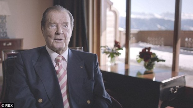 Roger Moore, pictured, claimed that Idris Elba was not 'English-English' enough to play James Bond