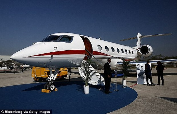 Sought after: The Gulfstream G650 flies fractionally lower than the speed of sound, can seat 18, and has a range of 7,000 miles. But Rev Creflo Dollar abandoned his plea to buy one after being mocked and criticised